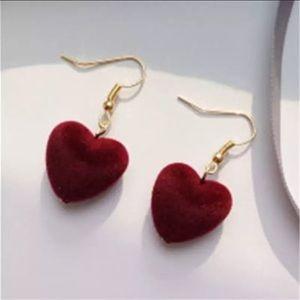 Velvet Heart Earrings